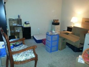 "The ""mess I'm in"" - extra bedroom/office area"