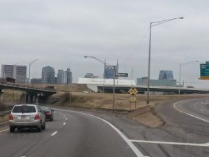 Entering Nashville with Skyline in View