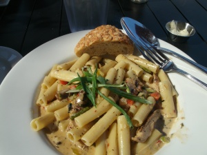 My Jerk Chicken with Pasta and Veggies