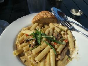 My Jerk Chicken with Pasta and Veggies