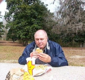Picnic near Pascagoula Bridge, MS - on our way to our campground