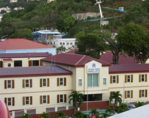 West Indies Co. building & Skyride in background