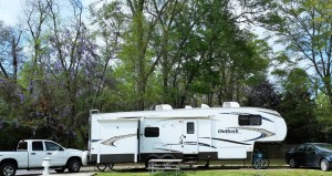 Our site at Benchmark Coach and RV Park