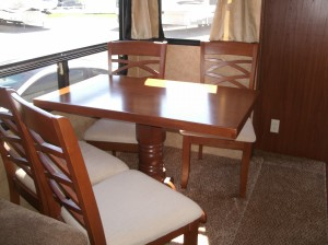Dining table and chairs as when we got the camper