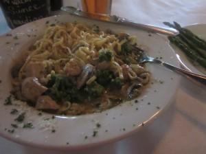 Chicken Alfredo with Broccoli and Mushrooms