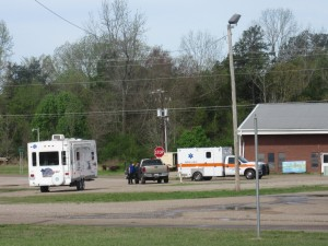 Scene at entrance to RV Park