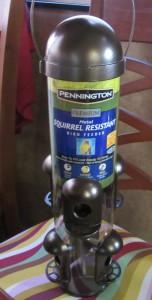The Squirrel Resistant Bird Feeder