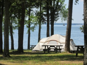Campsite near Pickwick Lake