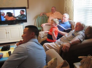L to R from back corner: Jim, David, Liam, Dad, Glenn, & Vince