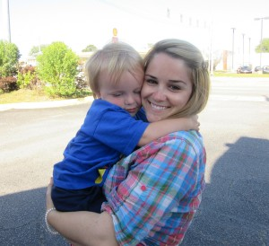 Time to say goodbye - Sammy hugging Aunt Rachel