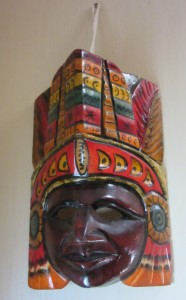 Mask of Mayan god of travel