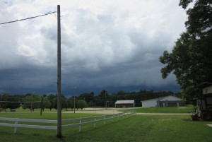 Looking west - the impending storm