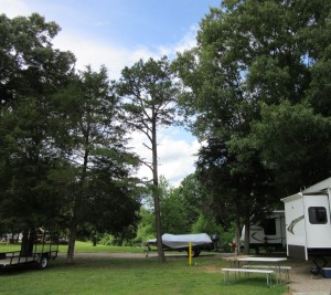 Looking north - back of our RV (clothes line is on the back bumper but not visible from this angle)