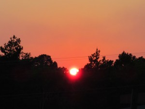 Sunset tonight from our back window