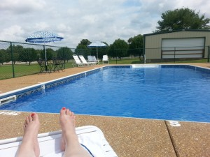 This morning, the pool was all mine!