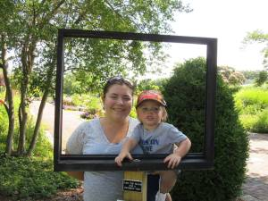 Framed picture opportunity - Sammy with his Mom, Amanda