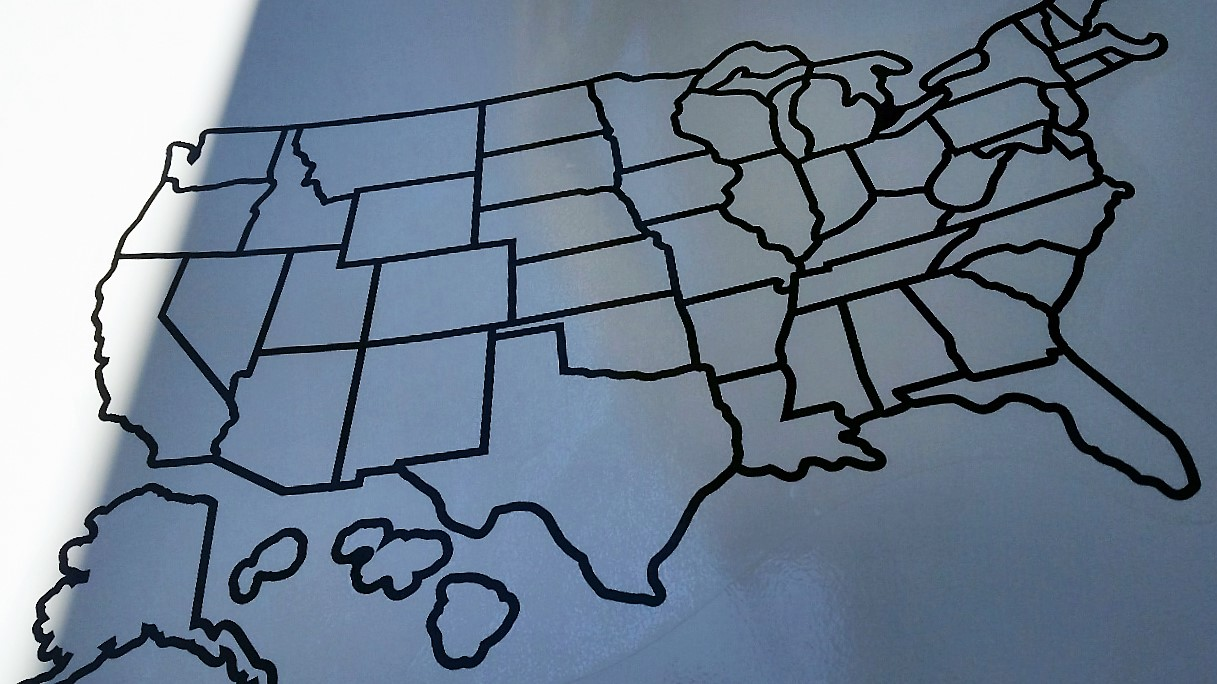 Mounting Our RV Travel Map – Rv Travel Maps
