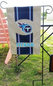 Our yard flag stand and one of our interchangeable flags
