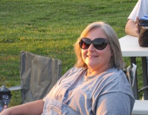Angela enjoy one of the band events this summer