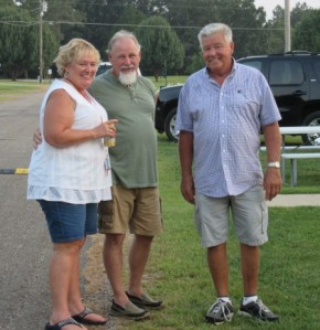 Diane, a friend of theirs, and Larry just before the Labor Day event