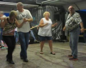 Jim dancing with Diane