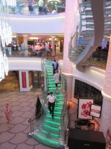 Colorful stairways