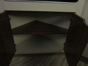 Shelves under the TV