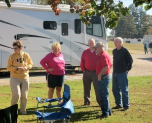 Some of the folks from Bluff City Good Sam's Camping Club, having a rally here, come join us (lady in pink is co-owner Diane).