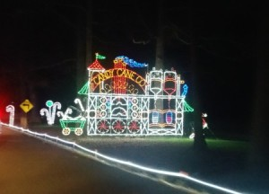 One of the light displays at Celebration of Lights