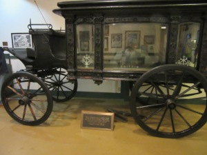 Horse-drawn hearse that transported Jones