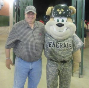 Jim with Sarge - Do you think they look like brothers?