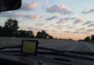 Up and on the road about 5 a.m.