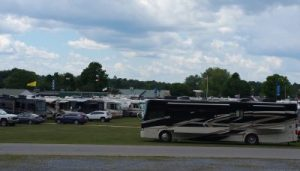 All types of RVs are parking