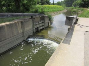 Operational canal lock