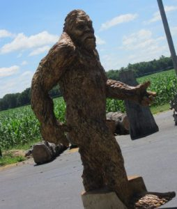 We had one Bigfoot sighting.