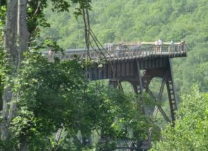 Kinzua Skywalk from visitor center