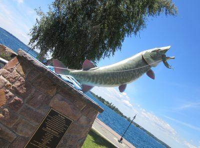 The Muskie fish statue