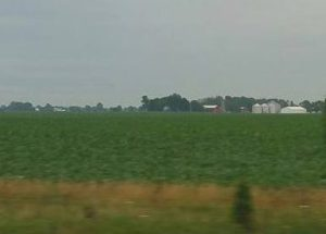 Farms along the interstate in Ohio
