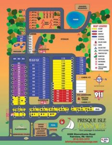 Presque Isle Lot Map