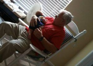 My dad rocking little Hershel
