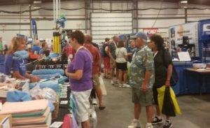 RV-specific vendors are in attendance