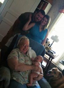 My mom with the kids and grand