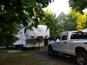 Our site at KOA near Cleveland