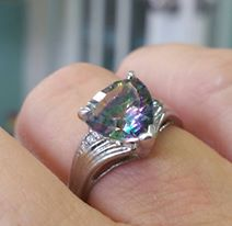 The stone in the ring is called Northern Lights.