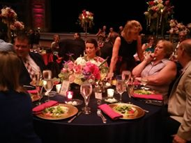 Our table at reception