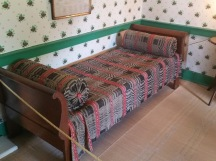 Polk's day bed he used in White House with original covering