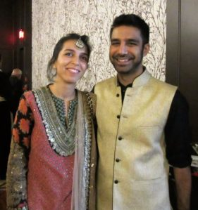 Prashant, a former student, and his lovely wife