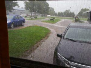 Friday morning rain