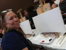 Colleen and our blank canvases