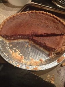 Chocolate chess pie Rachel made